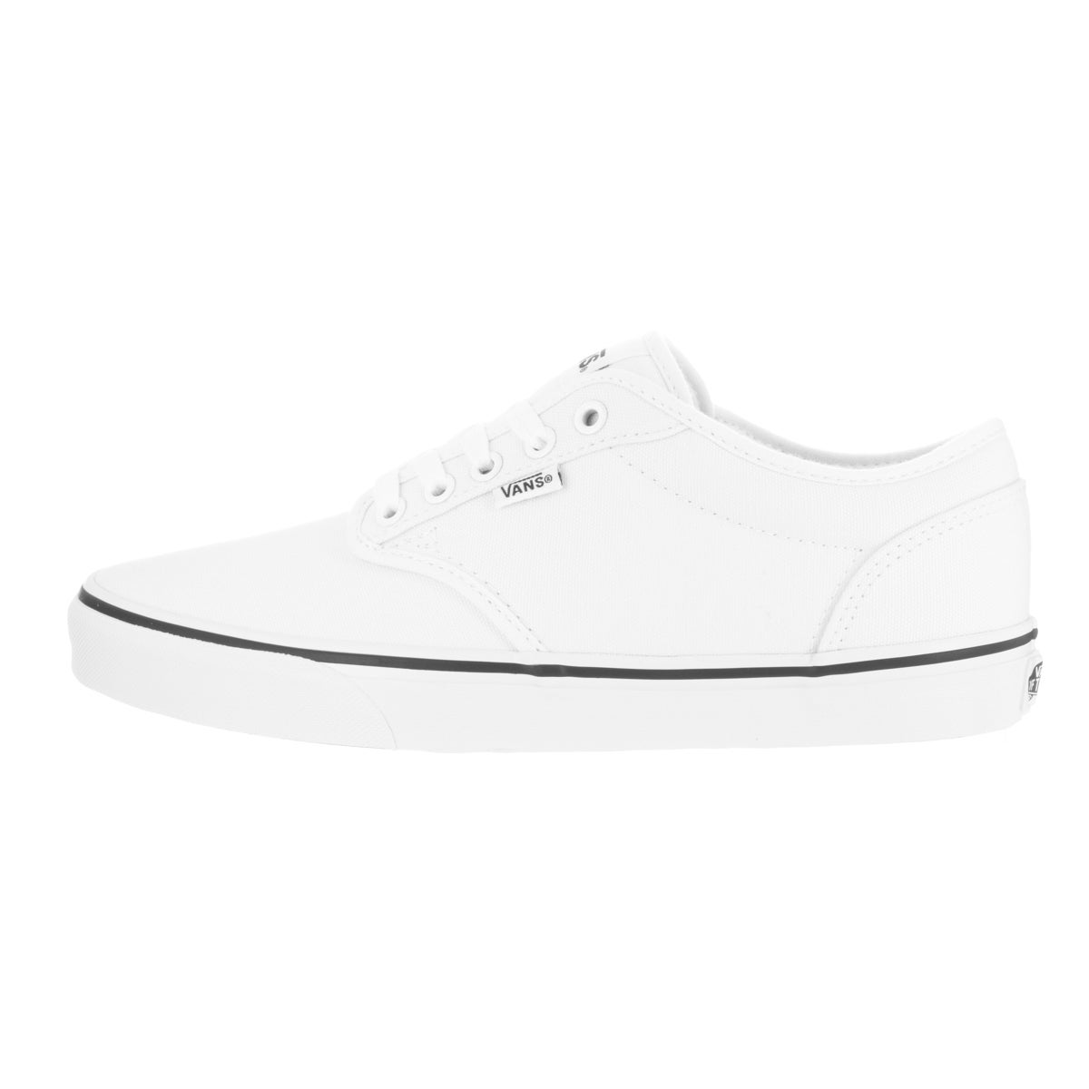 d97f978b60c2 Shop Vans Men s Atwood Black Foxing White White Canvas Skate Shoe - Free  Shipping Today - Overstock - 13313104