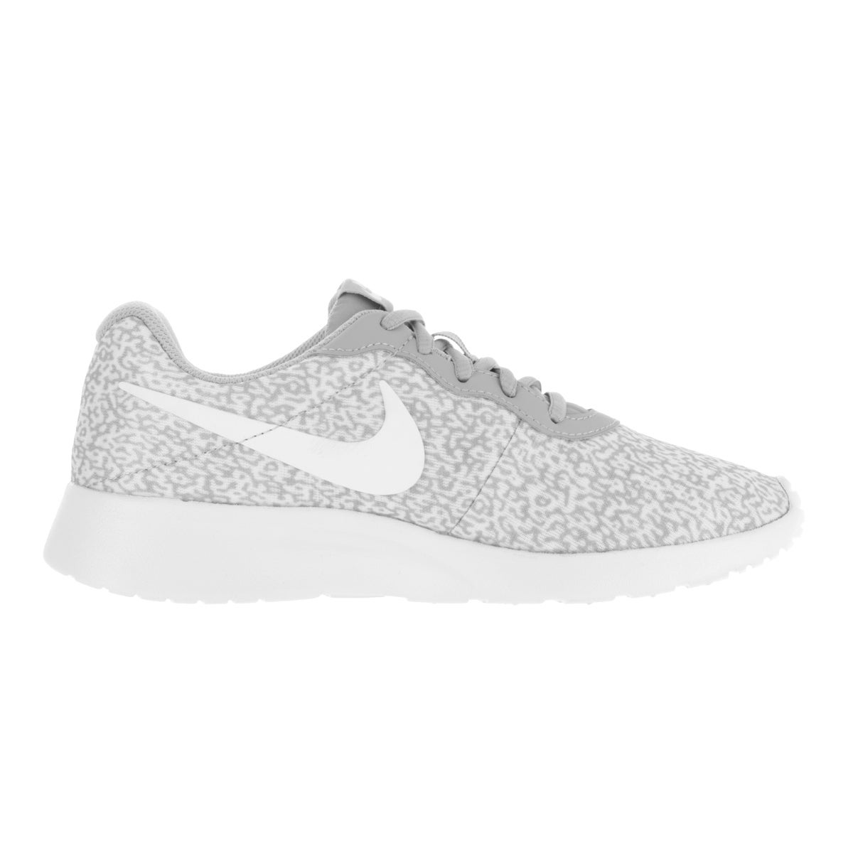 huge discount 2db45 ad3a9 Shop Nike Women s Tanjun Print Wolf Grey Wolf Grey White Running Shoe -  Free Shipping Today - Overstock - 13313150