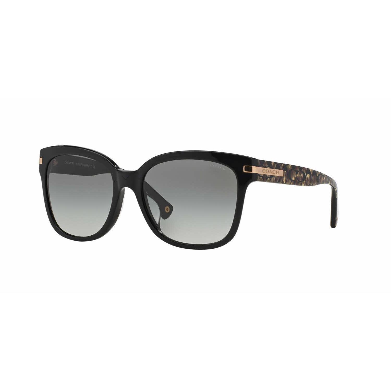f58604b3243 discount nice buy cheap coach hc8103 l080 alfie sunglasses 522611 black  beige ocelot sig c grey gradient 31534 99534  germany shop coach women  hc8103f l544 ...