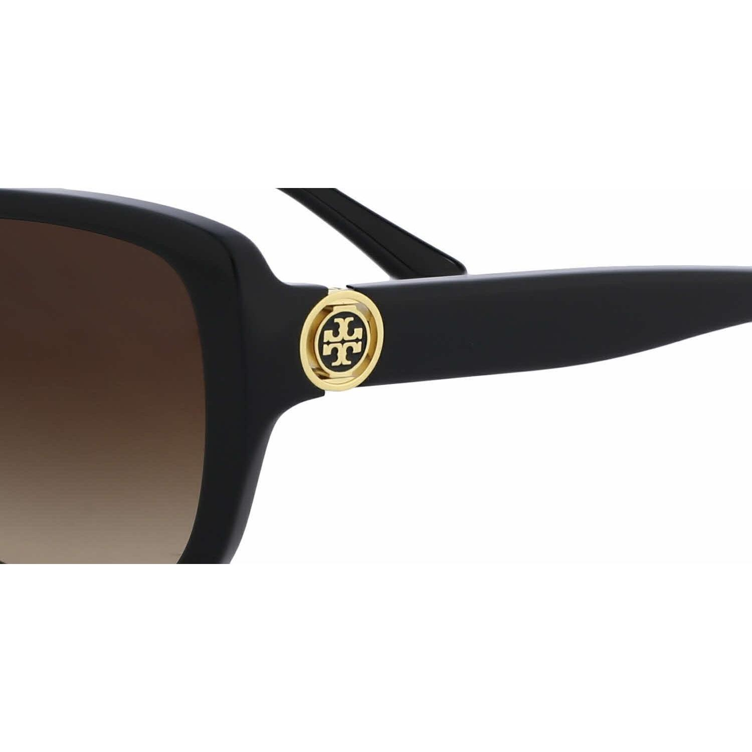 b98a453bfd5c Shop Tory Burch Women TY7086 131213 Black Plastic Rectangle Sunglasses - Free  Shipping Today - Overstock - 13319177