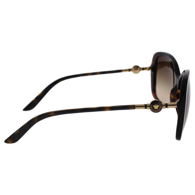 24f9bc2d1b79c Shop Versace Women VE4303 108 13 Brown Metal Rectangle Sunglasses - Free  Shipping Today - Overstock - 13319436