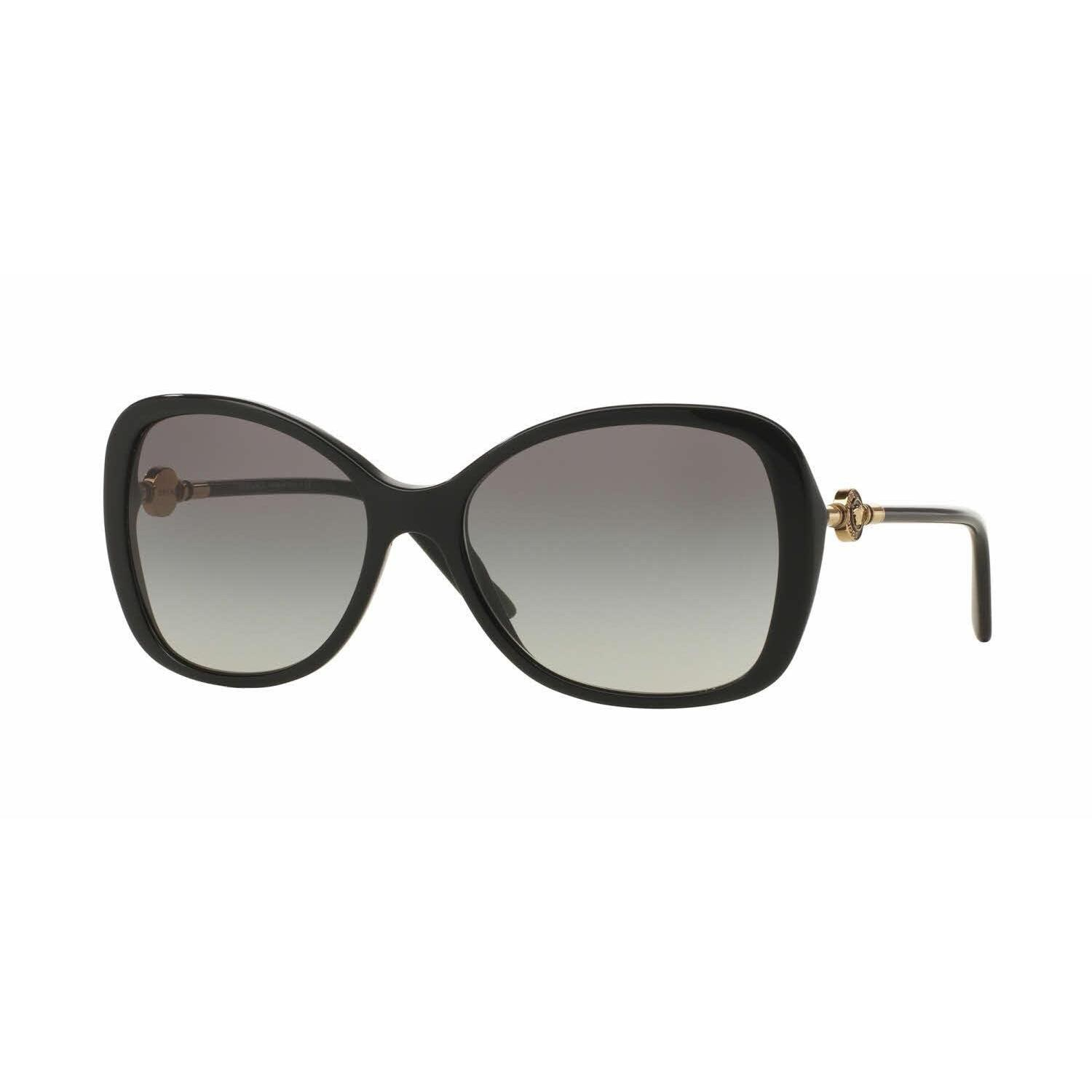 4e7a34169f735 Shop Versace Women VE4303 GB1 11 Black Metal Rectangle Sunglasses - Free  Shipping Today - Overstock - 13319437