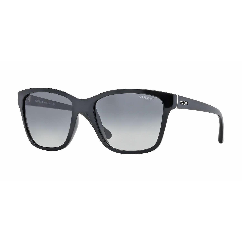 8e7c79326d Shop Vogue Women VO2896S W44/11 Black Plastic Square Sunglasses ...