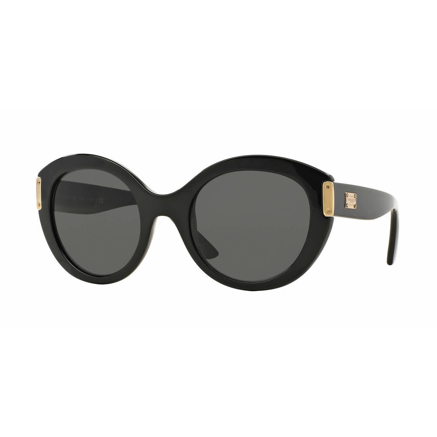 2c3877641cfb4 Shop Versace Women VE4310 GB1 87 Black Plastic Round Sunglasses - Free  Shipping Today - Overstock - 13322186