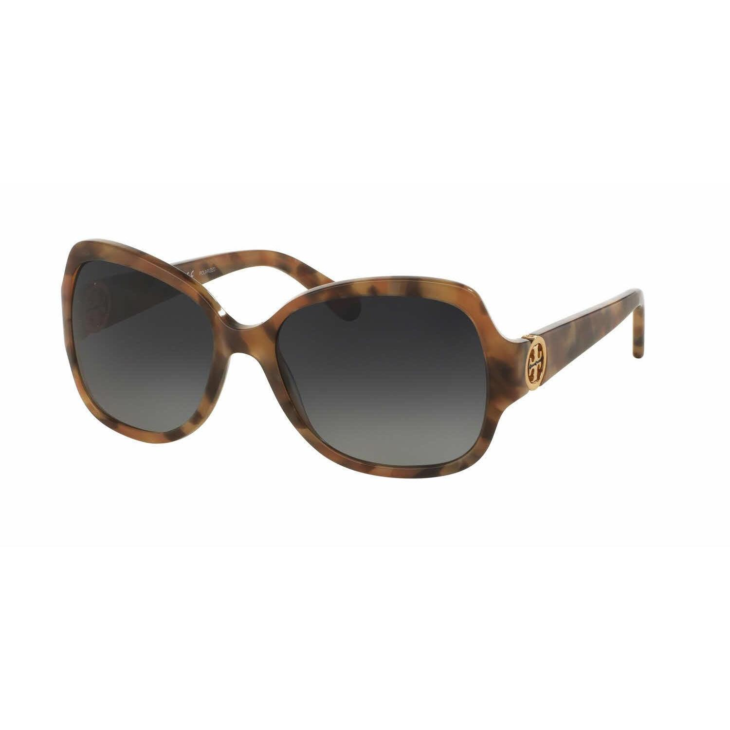 670cb97599220 Shop Tory Burch Women TY7059 3151T3 Light Brown Plastic Square Sunglasses -  Free Shipping Today - Overstock.com - 13322353