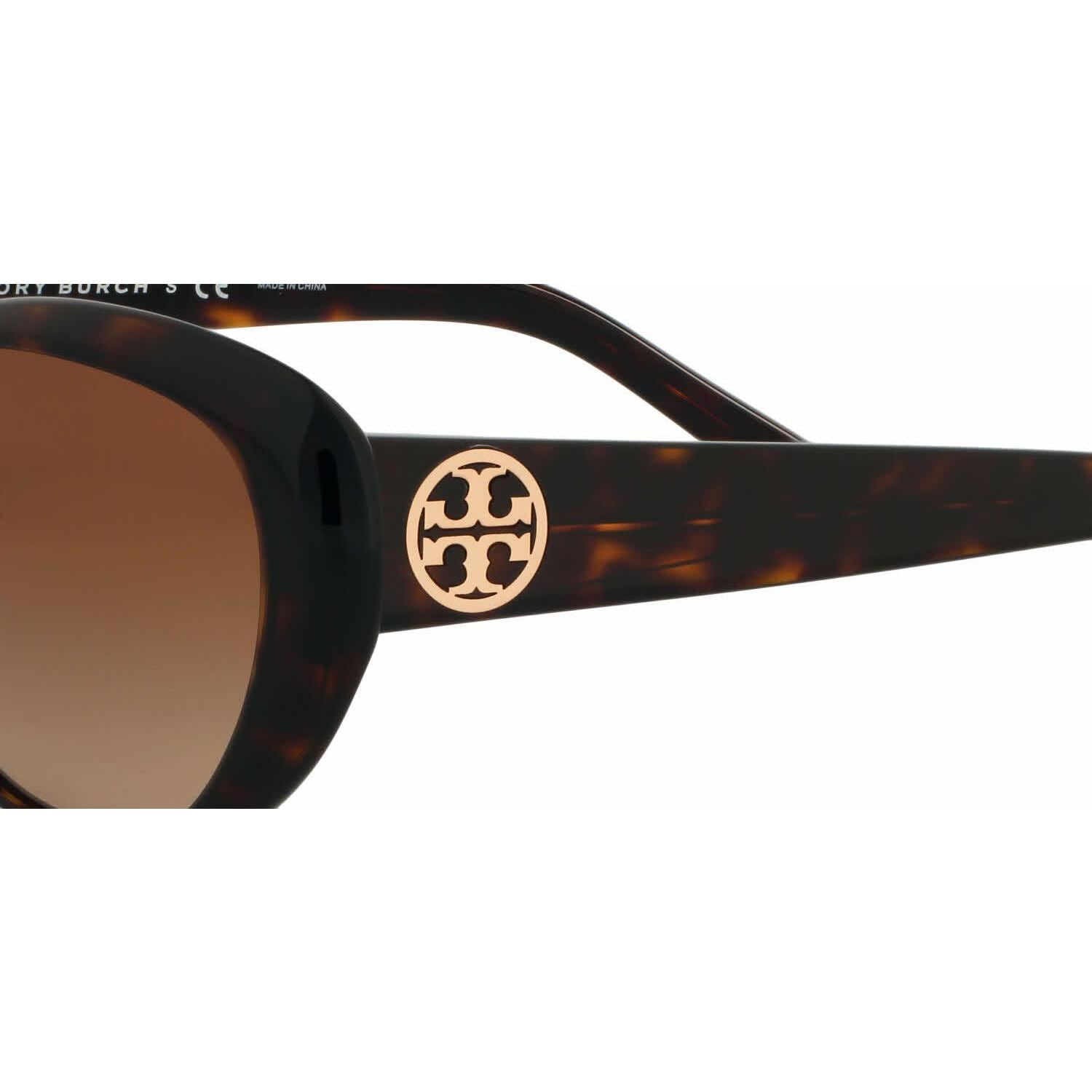 2a4d700f3c3e Shop Tory Burch Women TY7005 TORY C03 510 8 Havana Plastic Cat Eye  Sunglasses - Free Shipping Today - Overstock - 13322357