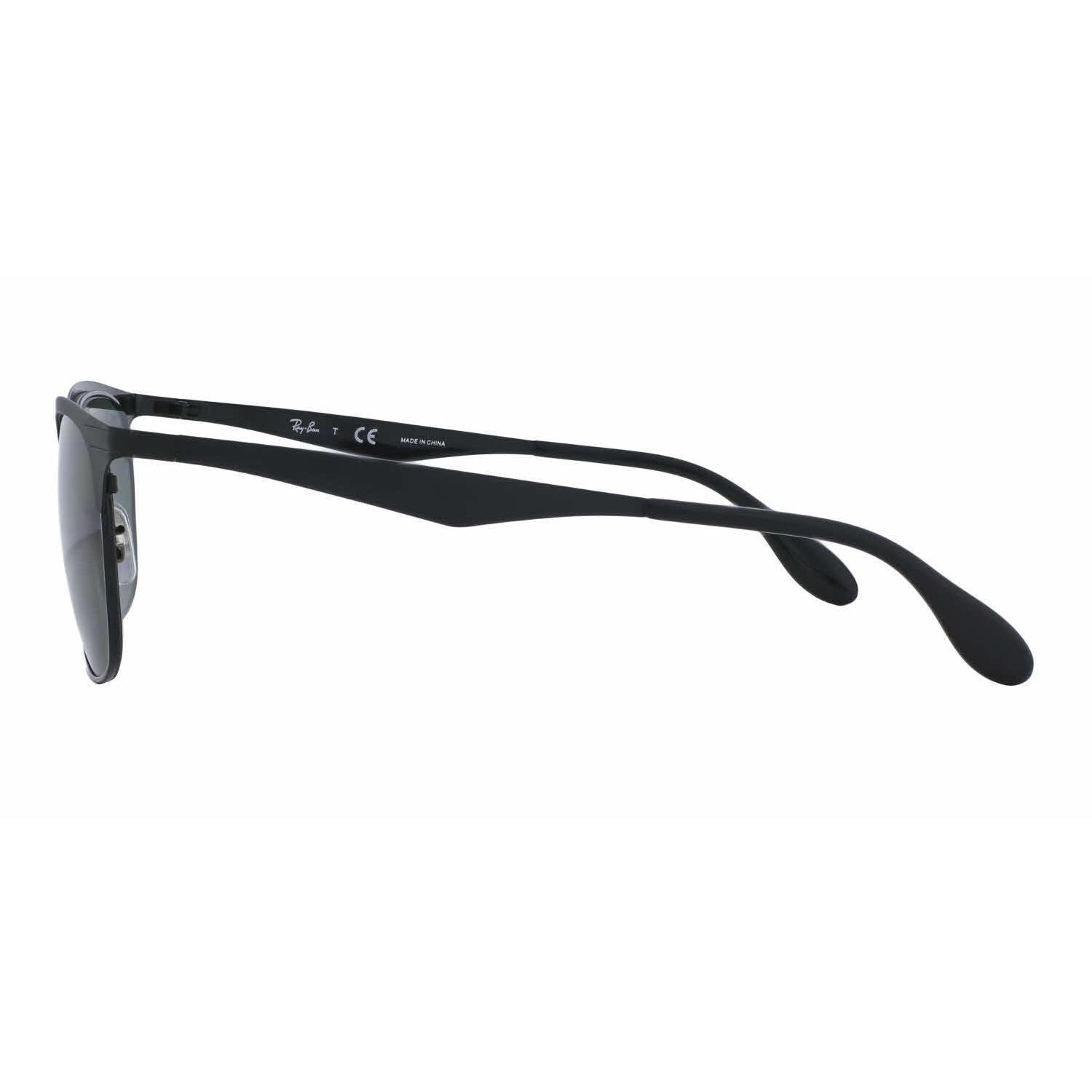 73ccc2433 Shop Ray Ban Women RB3538 186/71 Black Metal Square Sunglasses - Free  Shipping Today - Overstock - 13325469
