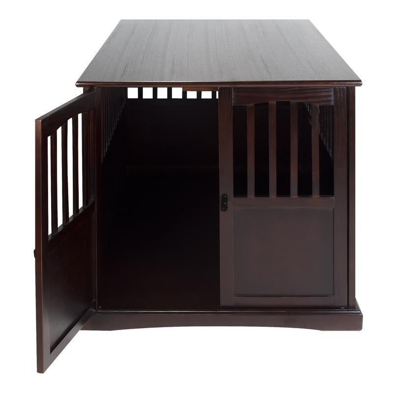 Marvelous Shop Wooden Extra Large Espresso Pet Crate End Table   Free Shipping Today    Overstock.com   13325940