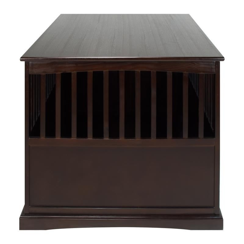 Shop Wooden Extra Large Espresso Pet Crate End Table   Free Shipping Today    Overstock.com   13325940