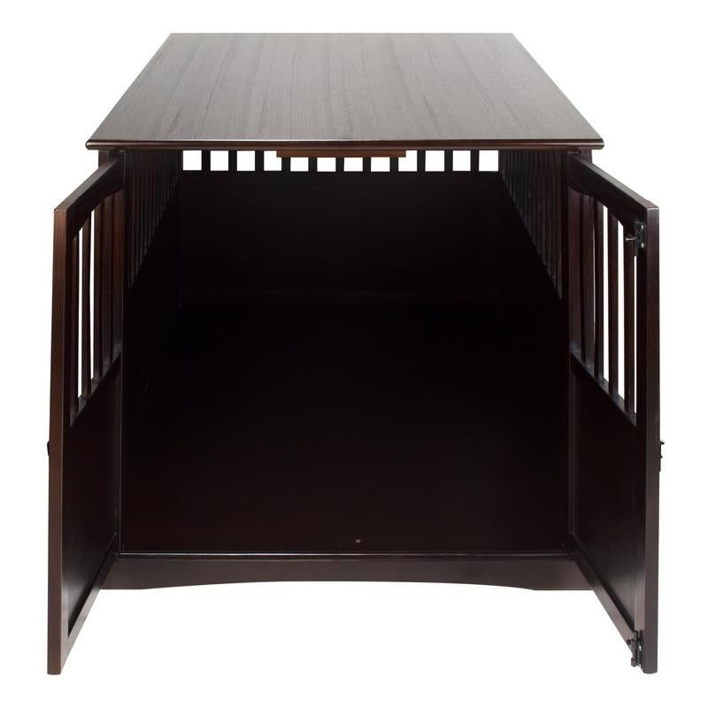 Wooden Extra Large Espresso Pet Crate End Table On Free Shipping Today 13325940