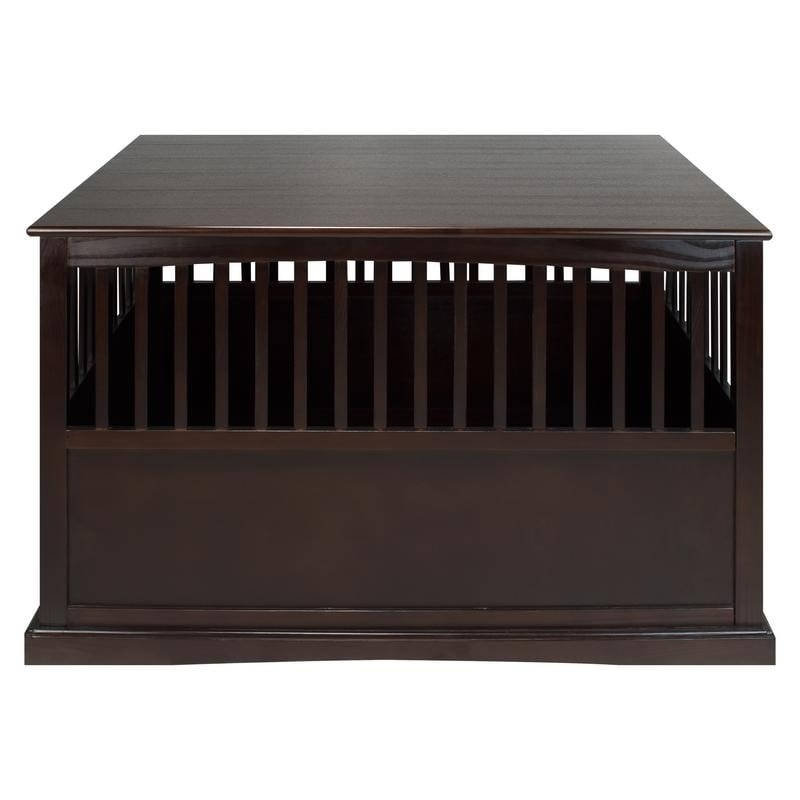 Shop Wooden Extra Large Espresso Pet Crate End Table   On Sale   Free  Shipping Today   Overstock   13325940