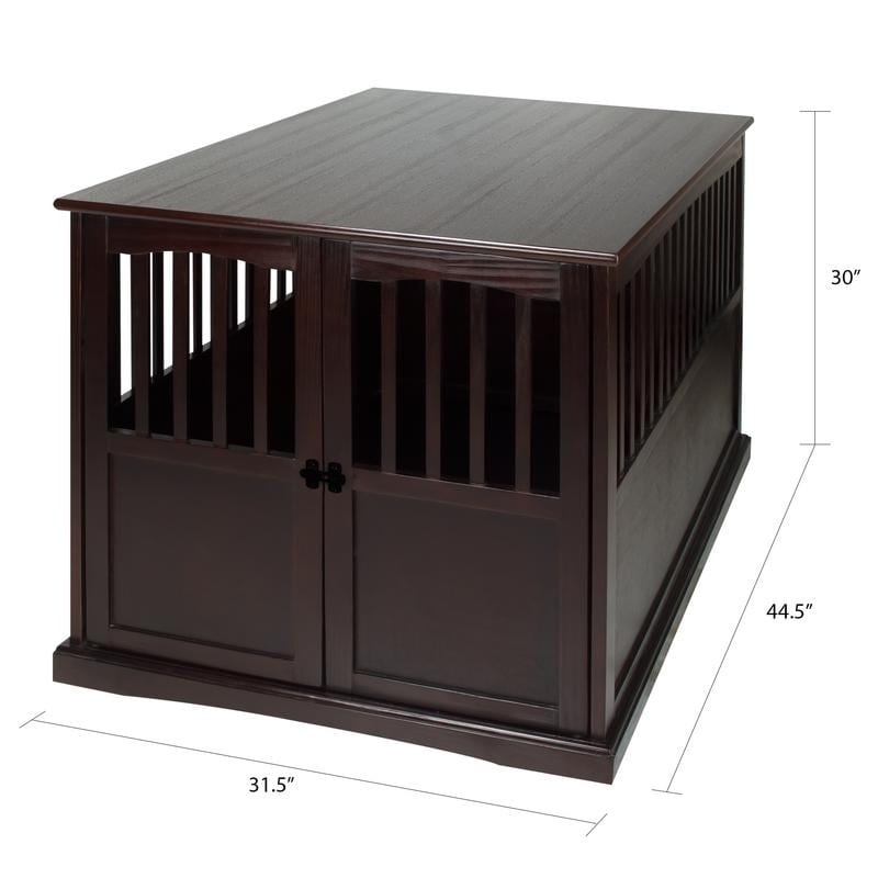 Wooden Extra Large Espresso Pet Crate End Table Free Shipping