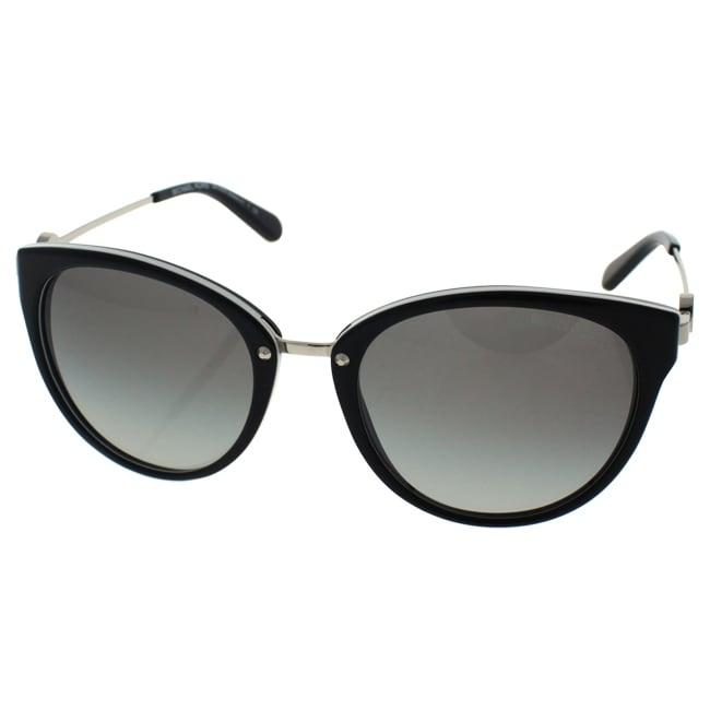 4e8aa6808cb Shop Michael Kors Women MK6040 ABELA III 312911 Black Metal Round Sunglasses  - Free Shipping Today - Overstock.com - 13327588