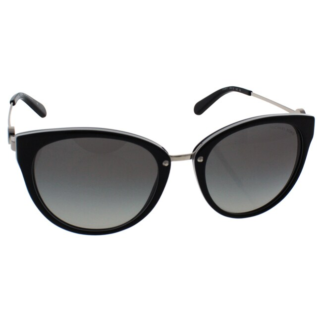 1b4a84974b Shop Michael Kors Women MK6040 ABELA III 312911 Black Metal Round  Sunglasses - Free Shipping Today - Overstock.com - 13327588