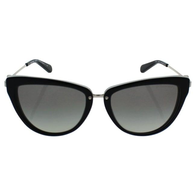 219fa32ed1f Shop Michael Kors Women MK6039 ABELA II 312911 Black Metal Cat Eye  Sunglasses - Free Shipping Today - Overstock.com - 13327604