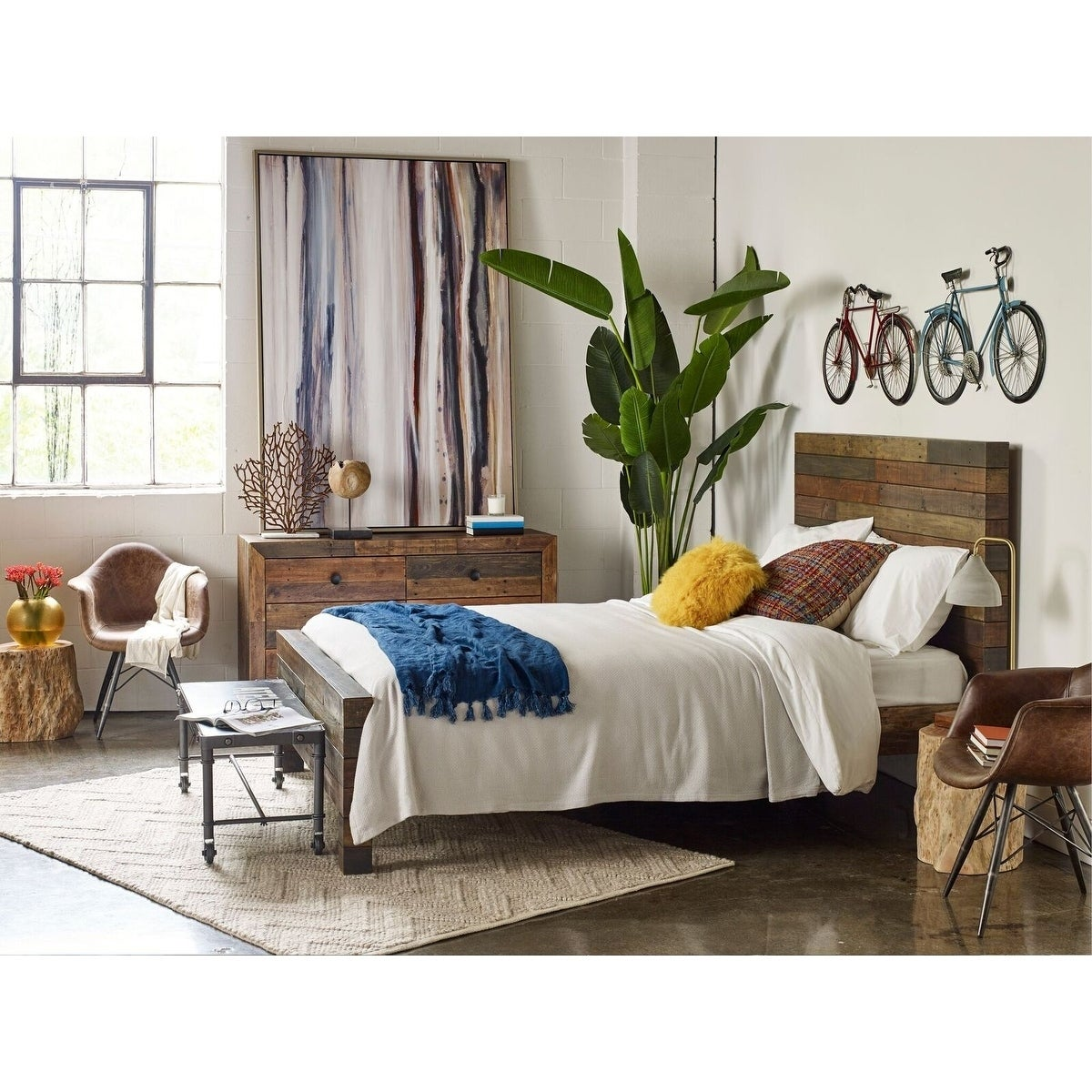 Aurelle Home Rustic Vola California King Size Bed Free Shipping Today 20033032