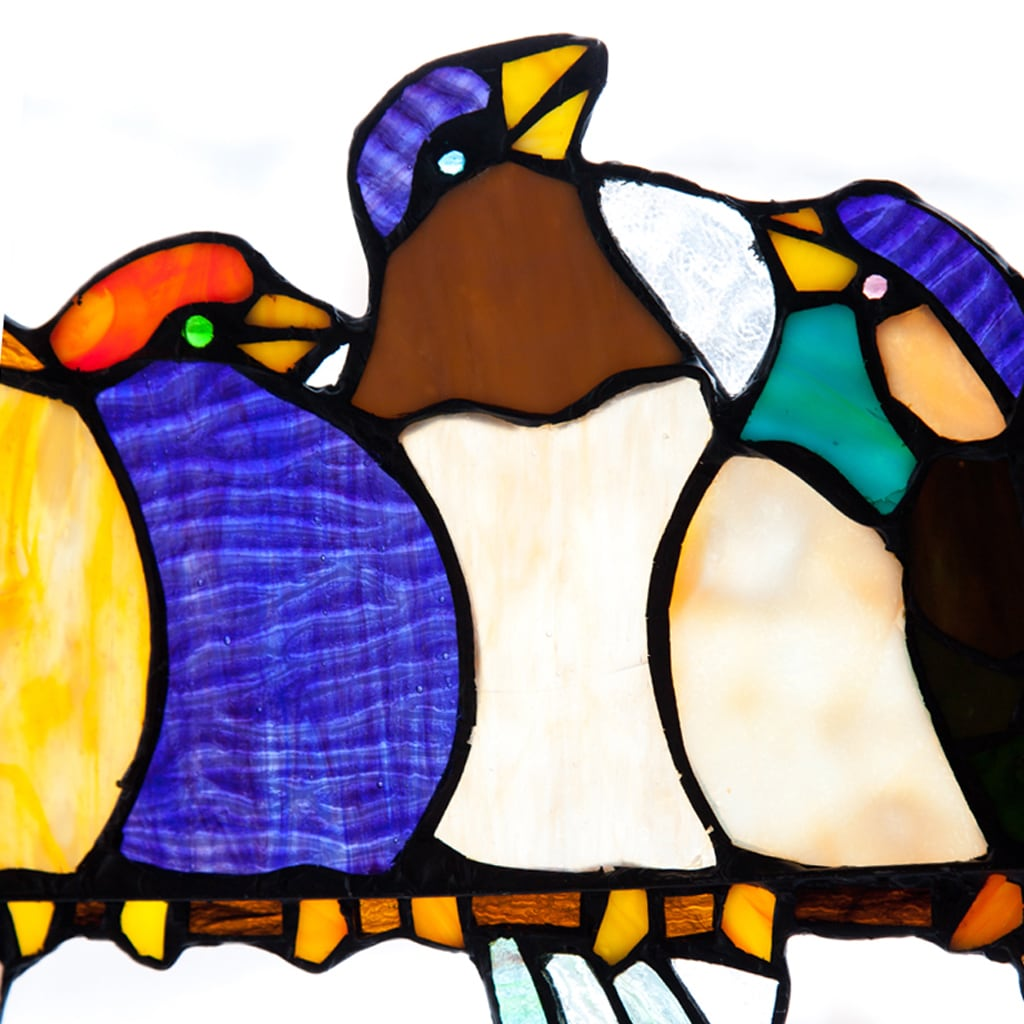 River Of Goods Birds On A Wire 925 Inch Stained Glass Window