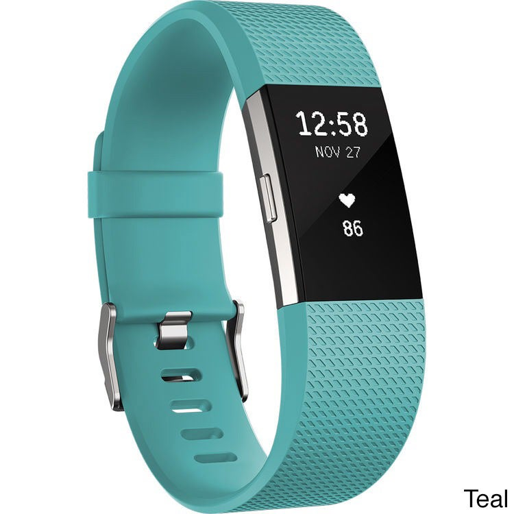 Fitbit Charge 2 Heart Rate + Fitness Wristband,Black, Large(US Version)