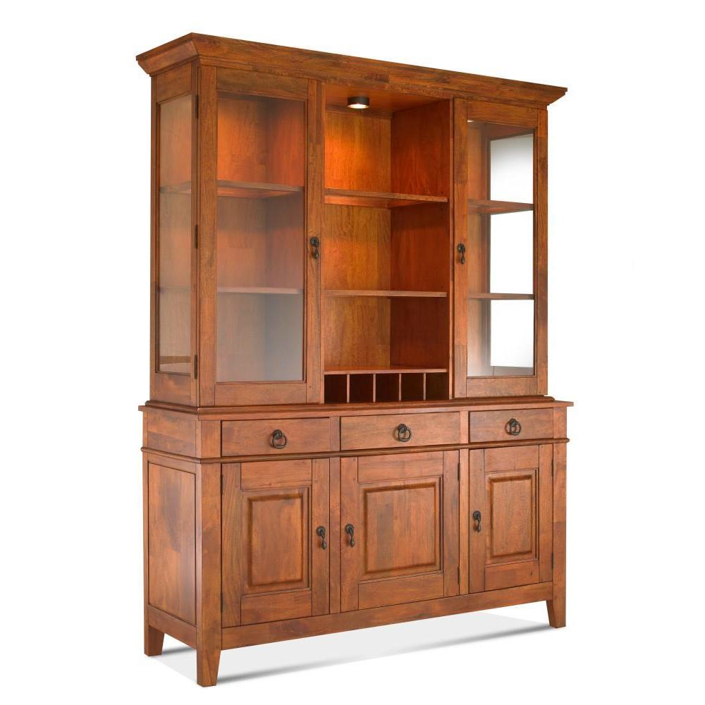 Shop Made To Order Klaussner Furniture Urban Craftsmen Gold Tone Wood Dining  Buffet And Hutch   Free Shipping Today   Overstock.com   13329545