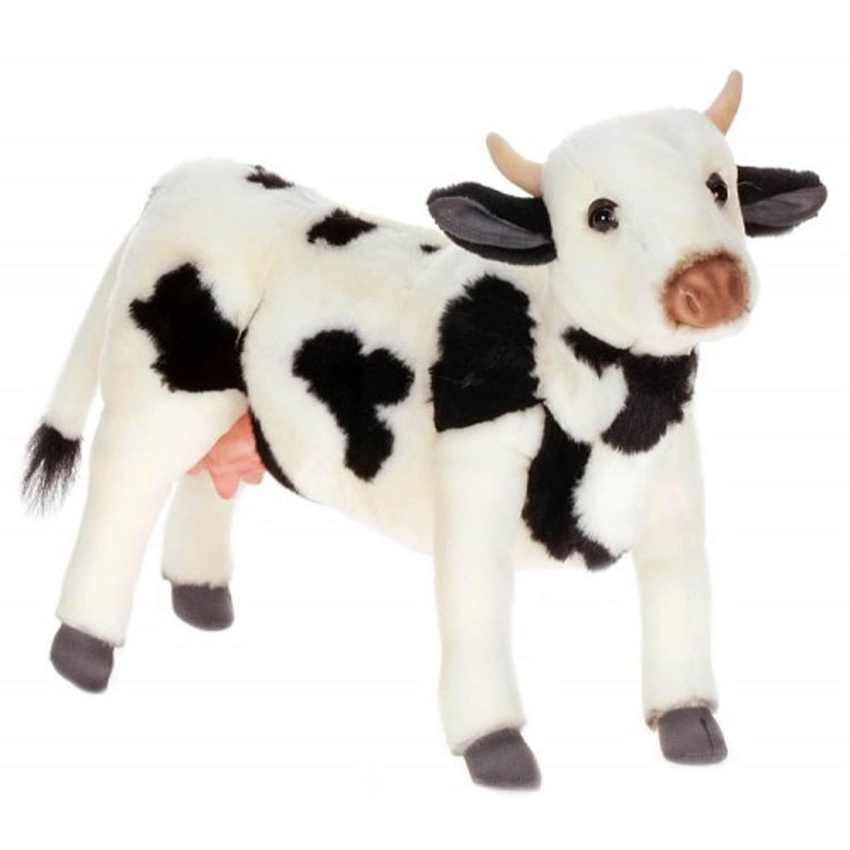 Shop Hansa Black And White Cow Plush Toy Free Shipping Today