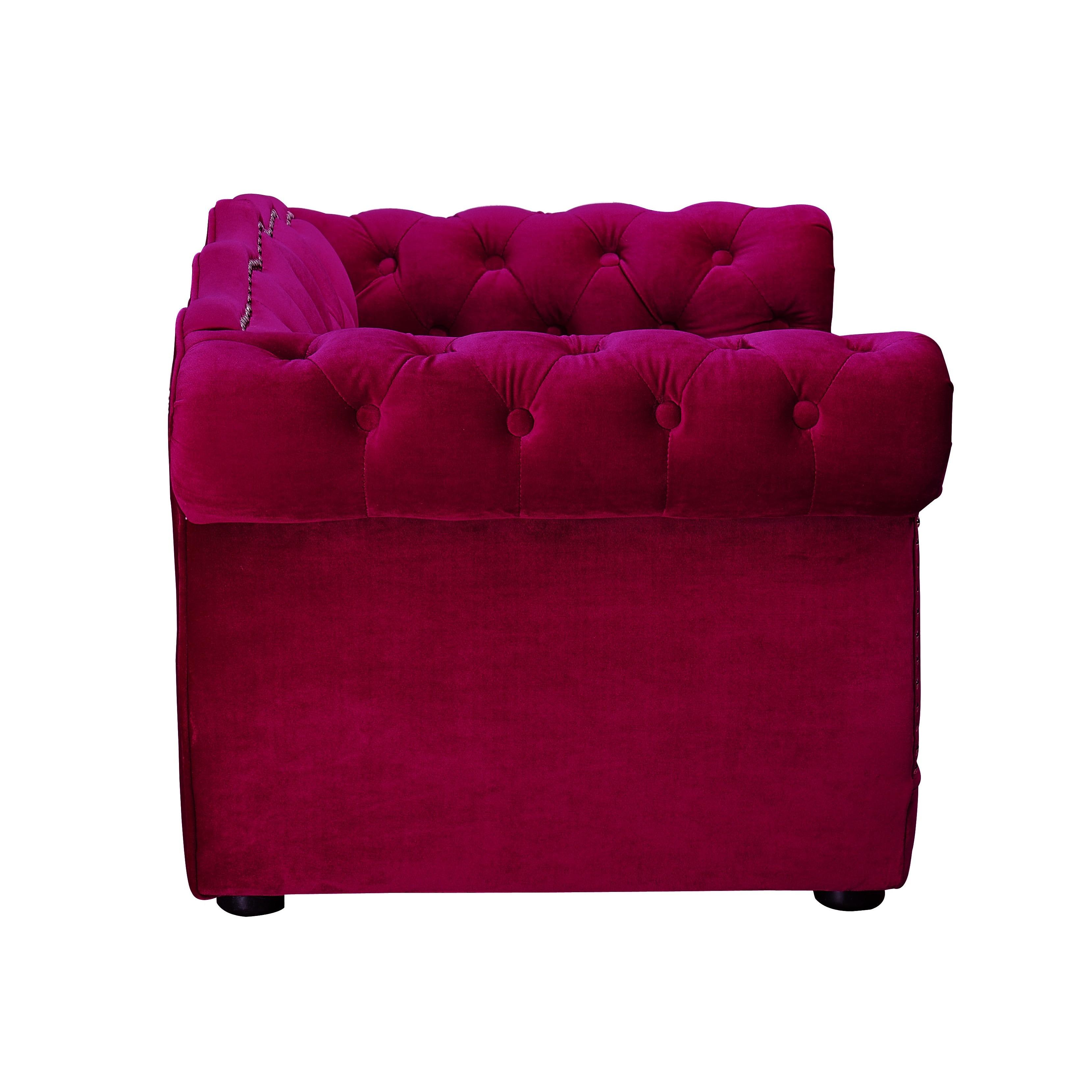 shop yorkshire pink velvet wood button tufted pet bed free
