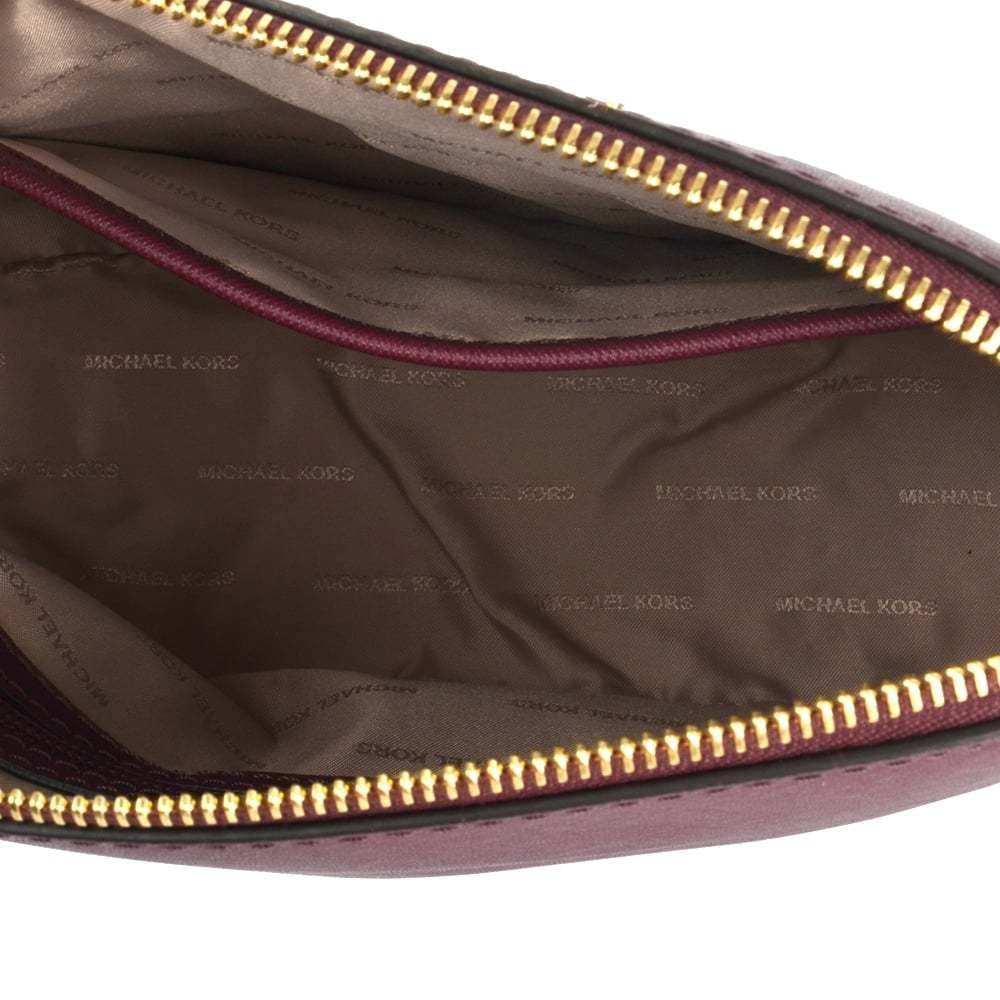 bc6e60989d8958 Shop Michael Kors Cindy Plum Leather Large Dome Crossbody Bag - Free  Shipping Today - Overstock - 13330911