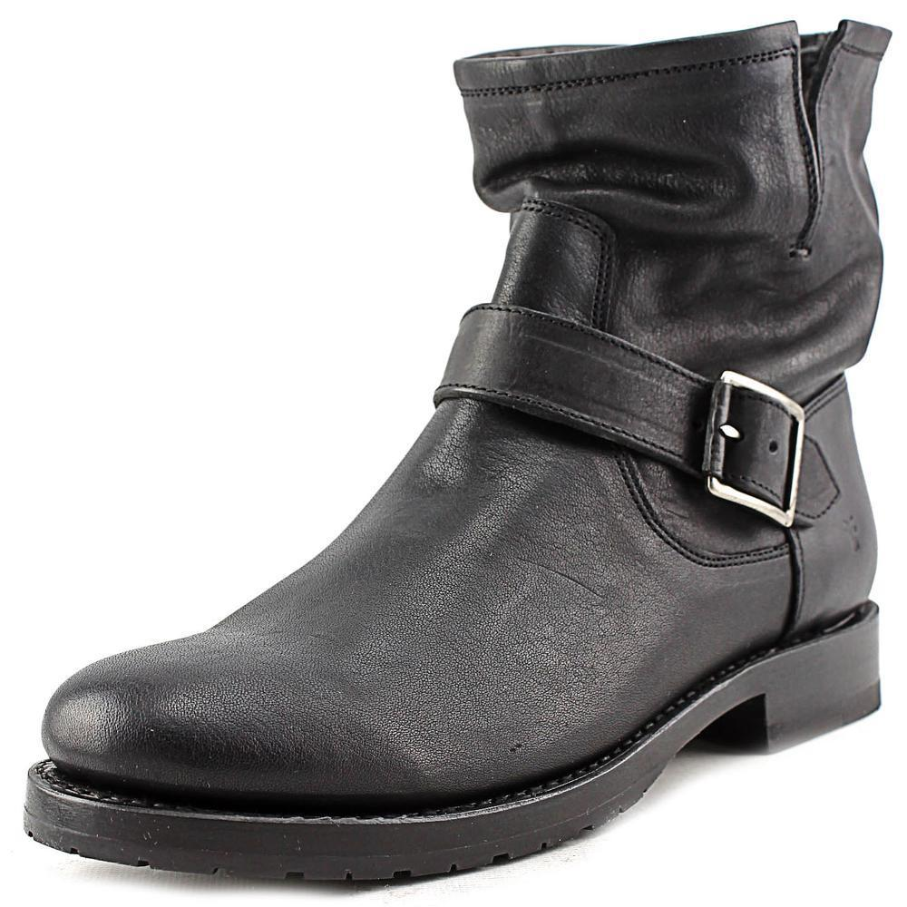 21b3cd6e47 Shop Frye Women's 'Natalie Short Engineer' Black Leather Boots - Free  Shipping Today - Overstock - 13331125