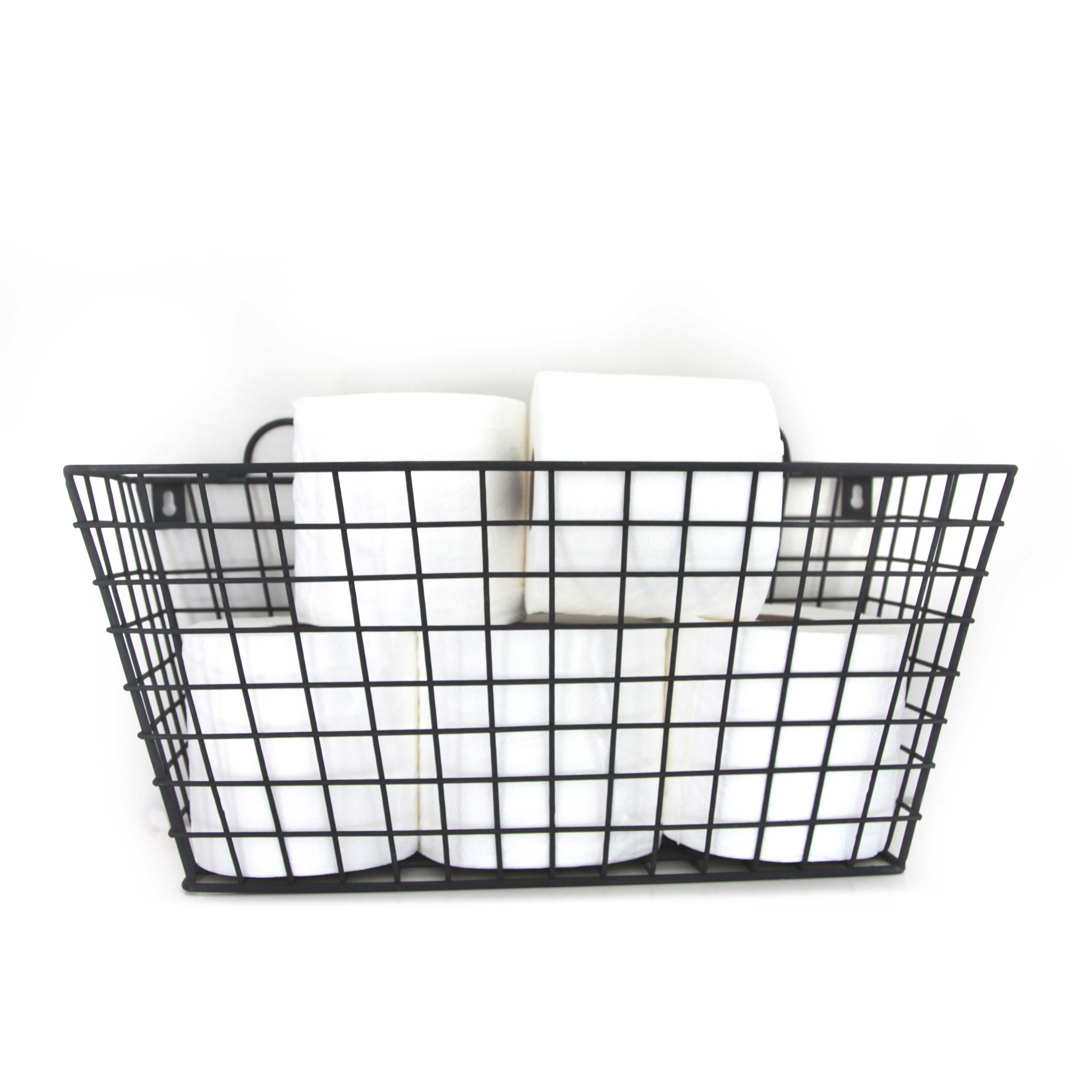 Black Metal Long Multi functional Wall Hanging Wire Basket Free