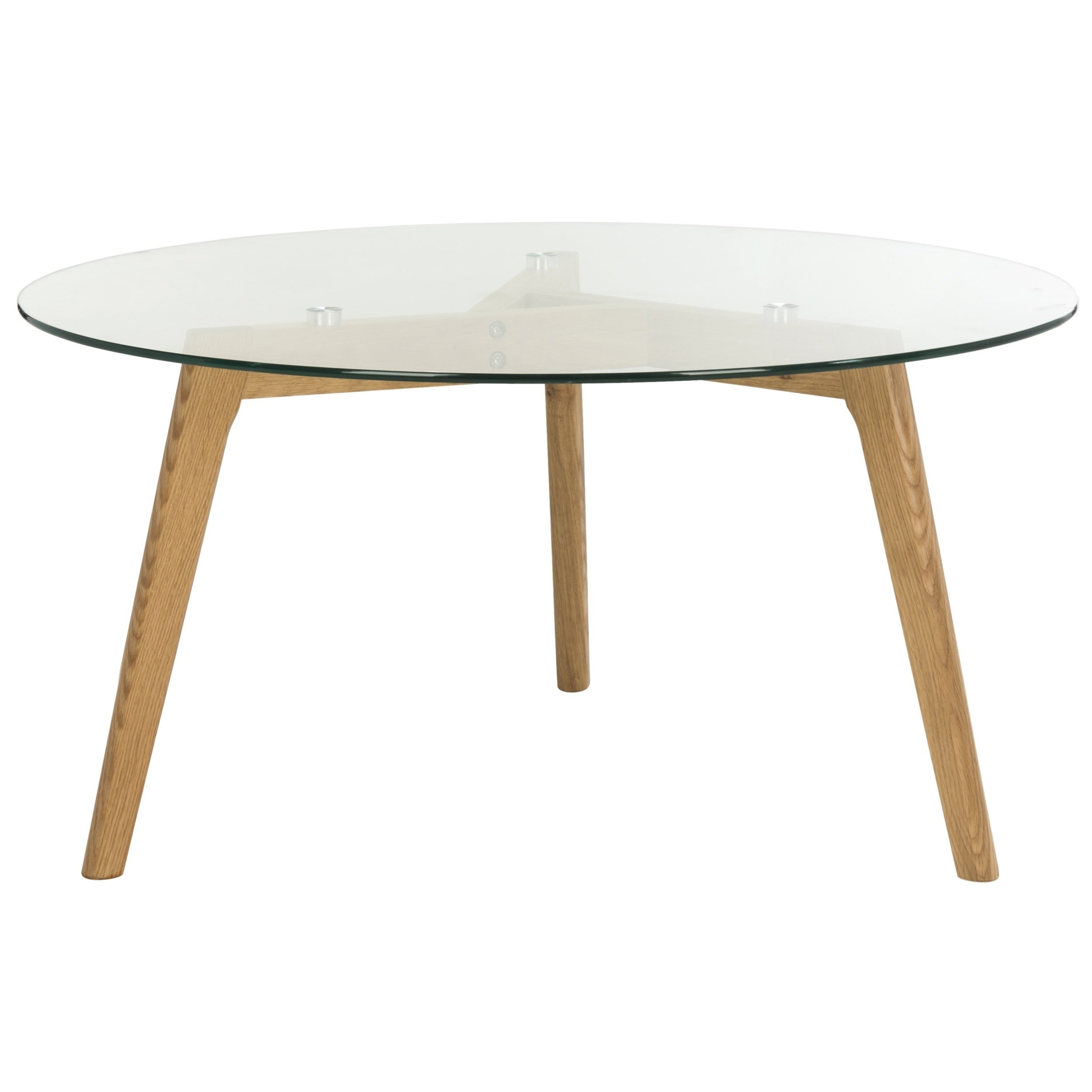 Shop Safavieh MidCentury Marjoram Round Glass Coffee Table On - Mid century wood and glass coffee table