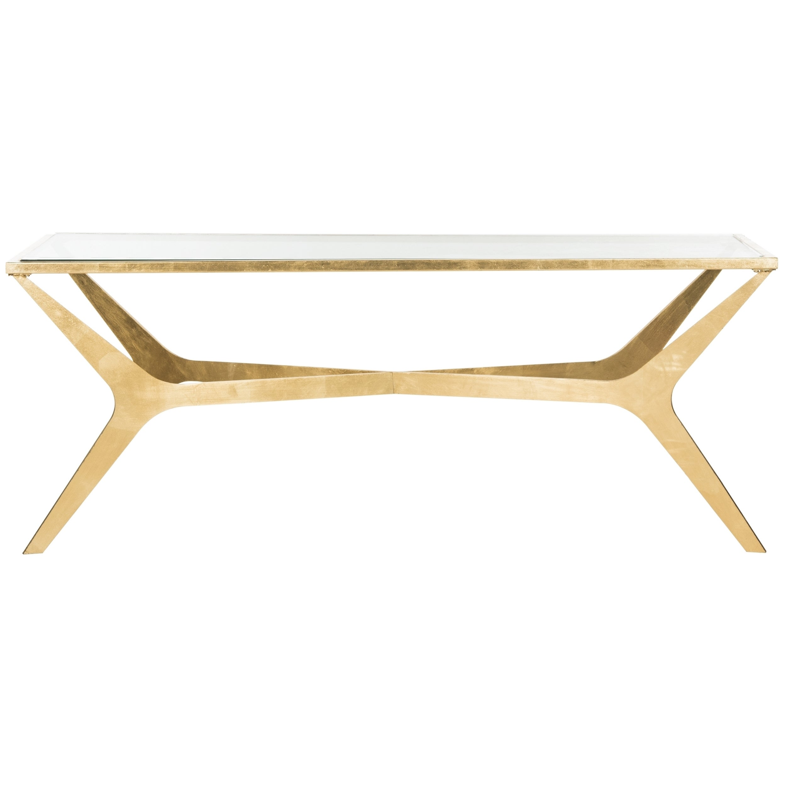 Beau Shop Safavieh Edythe Gold Leaf Coffee Table   Free Shipping Today    Overstock.com   13339554