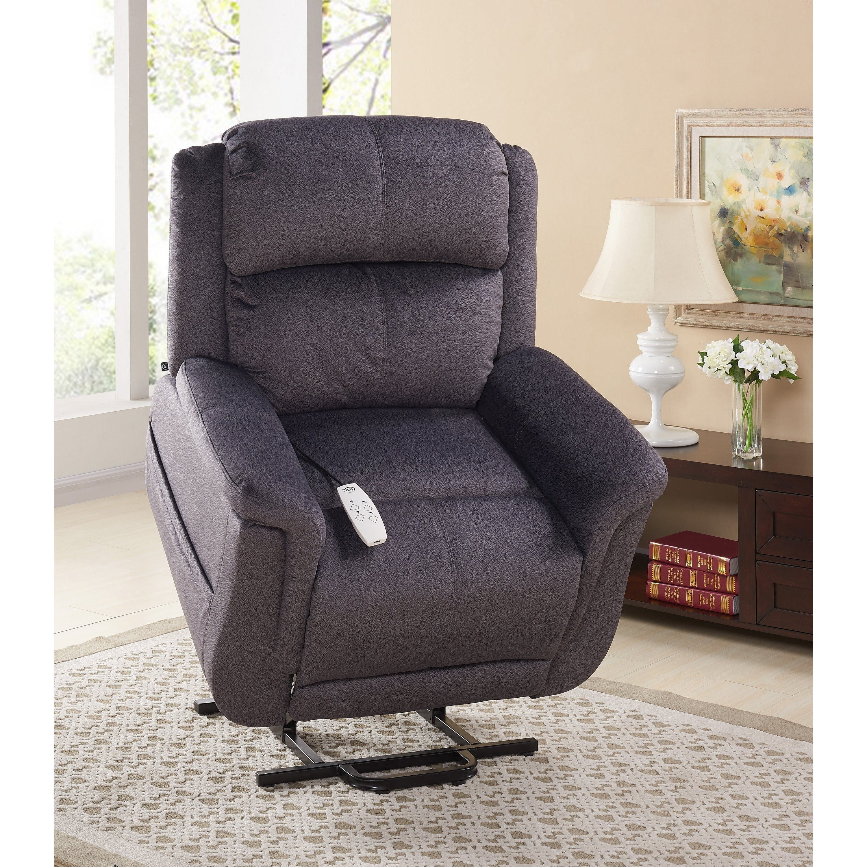 recliner home comfort chair reclining today free overstock sheffield shipping garden product serta lift