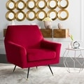 Safavieh Mid-Century Modern Nynette Red Velvet Accent Chair