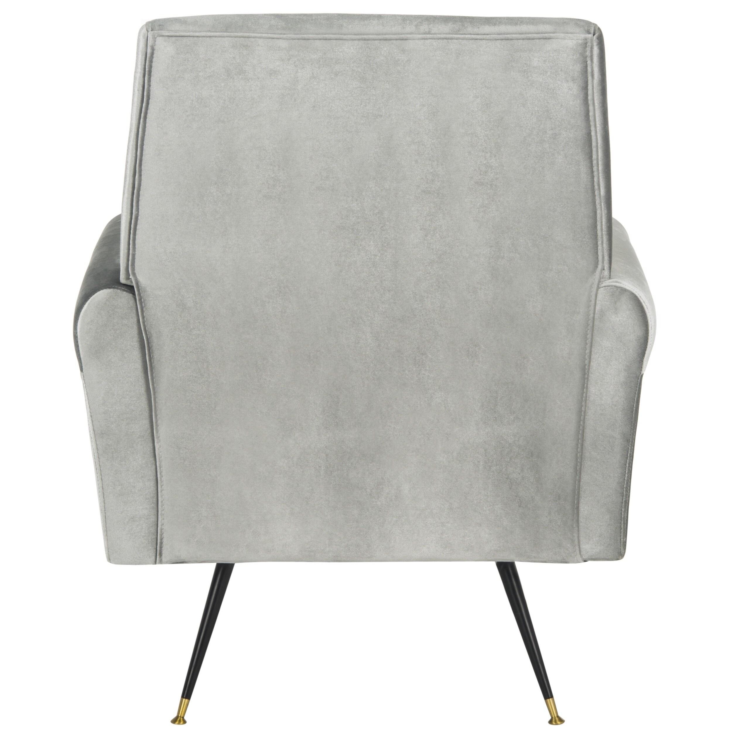 Safavieh Mid Century Modern Glam Mira Velvet Light Grey Club Chair   Free  Shipping Today   Overstock   20044607