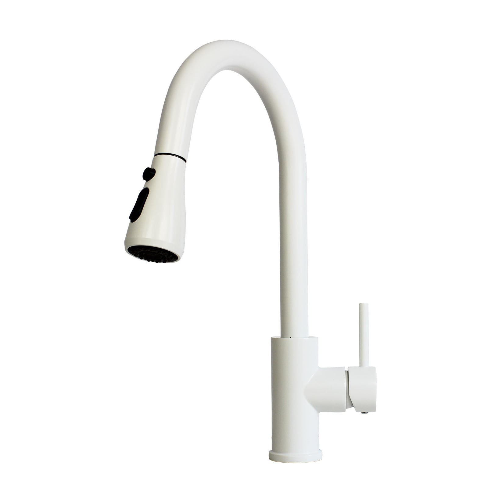 Shop Solid Brass Pull Out Spray Faucet With Matte White Finish On