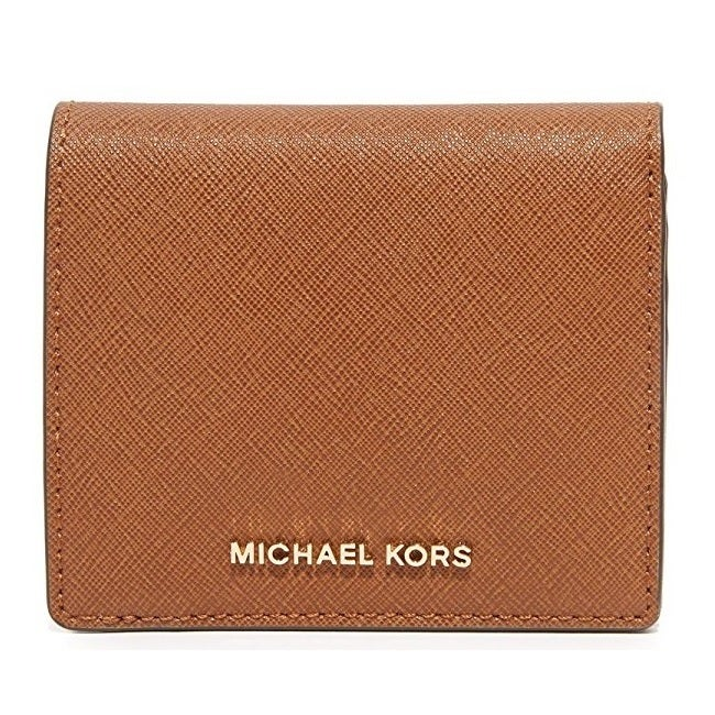 bfbba01c4f22 Shop Michael Kors Bedford Luggage Brown Carryall Card Case - Free Shipping  Today - Overstock.com - 13343158