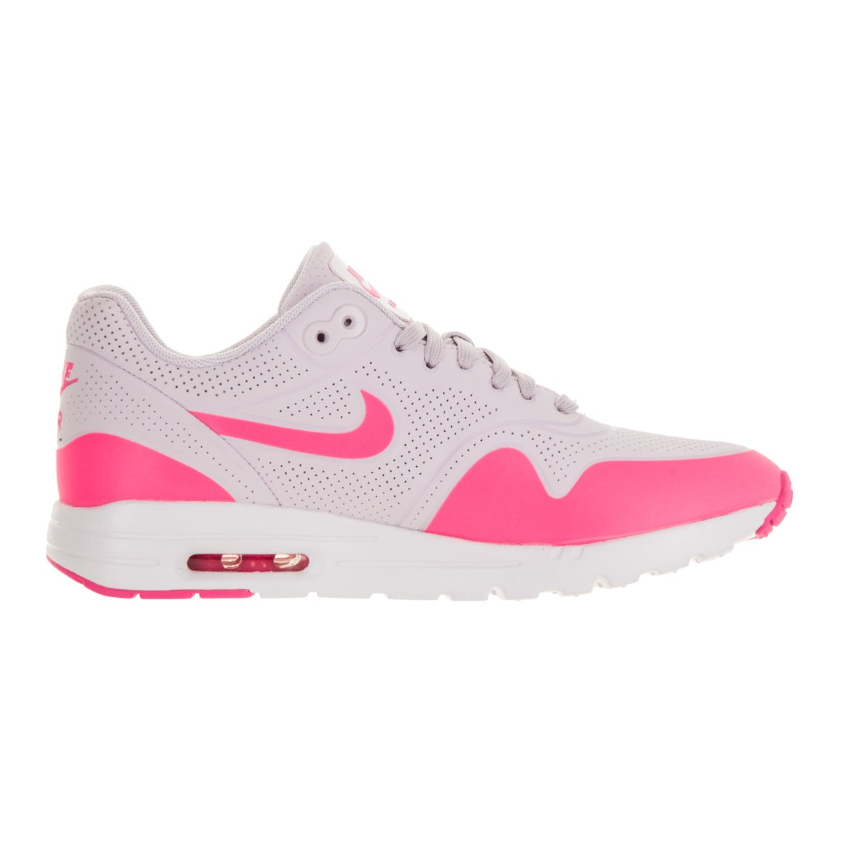 best website 7c968 1f76d Shop Nike Women s Air Max 1 Ultra Moire Bleached Lilac Pink Blast White  Running Shoe - Free Shipping Today - Overstock - 13343861