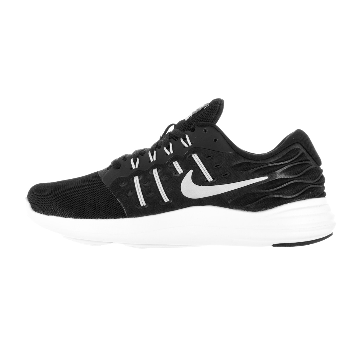 7a72502b5e8a Shop Nike Women s Lunarstelos Black Metallic Silver Anthracite White  Running Shoe - Free Shipping Today - Overstock.com - 13343905