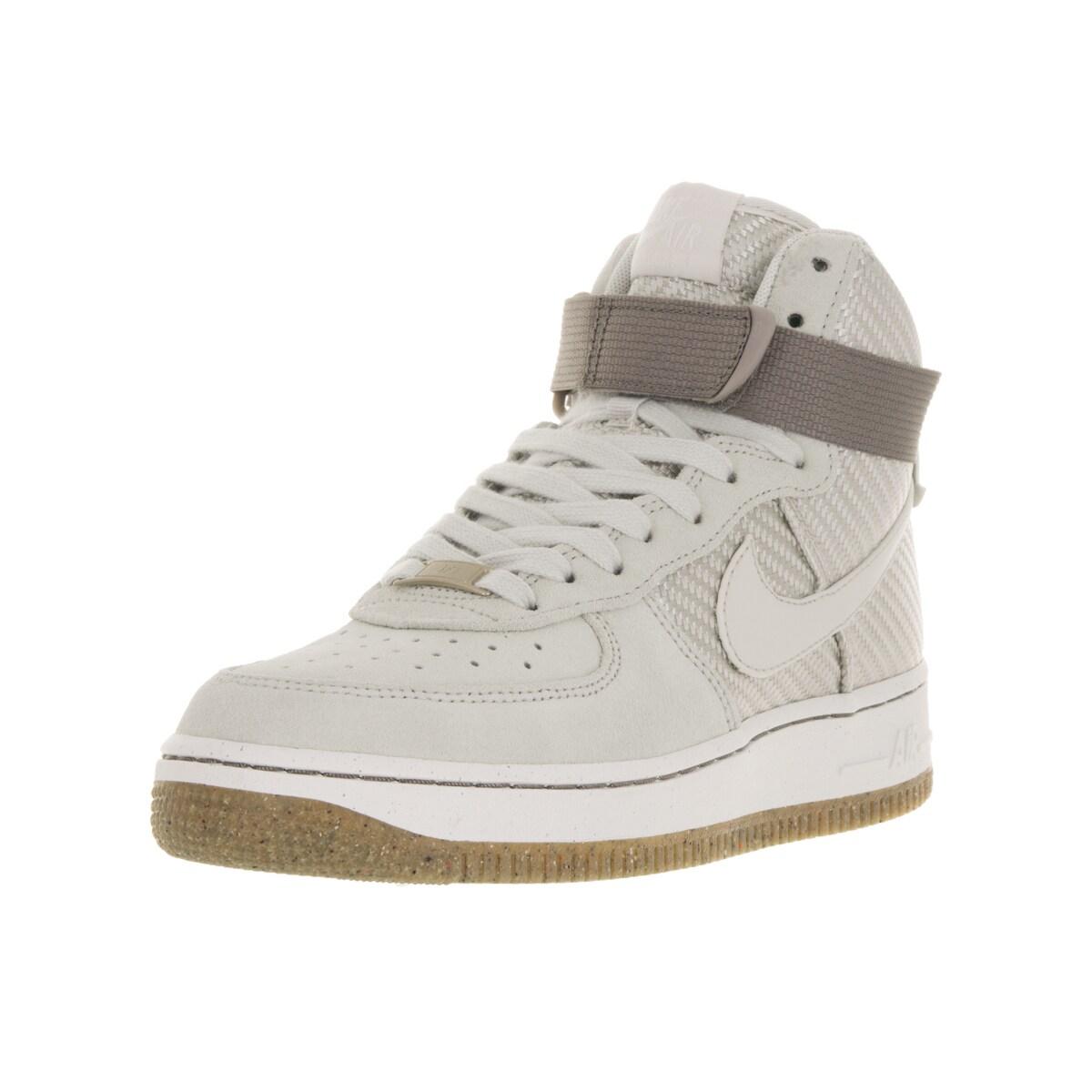 1e805d0fef12 Shop Nike Women s Air Force 1 Hi Prm Beige Basketball Shoe - Free Shipping  Today - Overstock.com - 13343915