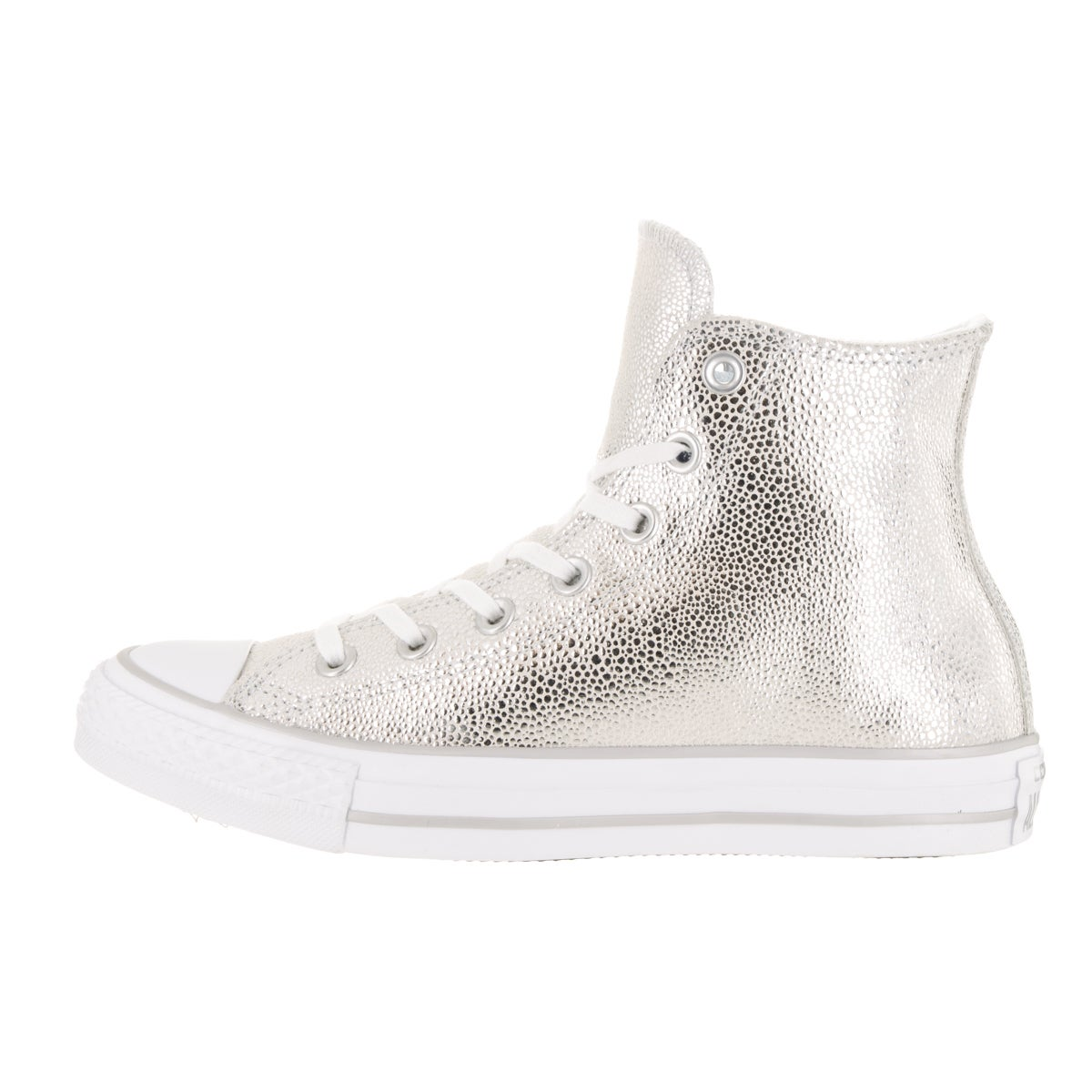 0575f599a4820c Shop Converse Women s Chuck Taylor All Star Stingray Metallic Hi Pure  Silver Basketball Shoe - Free Shipping Today - Overstock - 13344079