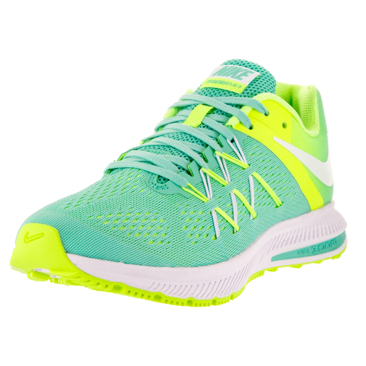 the best attitude 70011 c56ef ... promo code for shop nike womens zoom winflo 3 hyper turquoise volt and  white plastic running ...