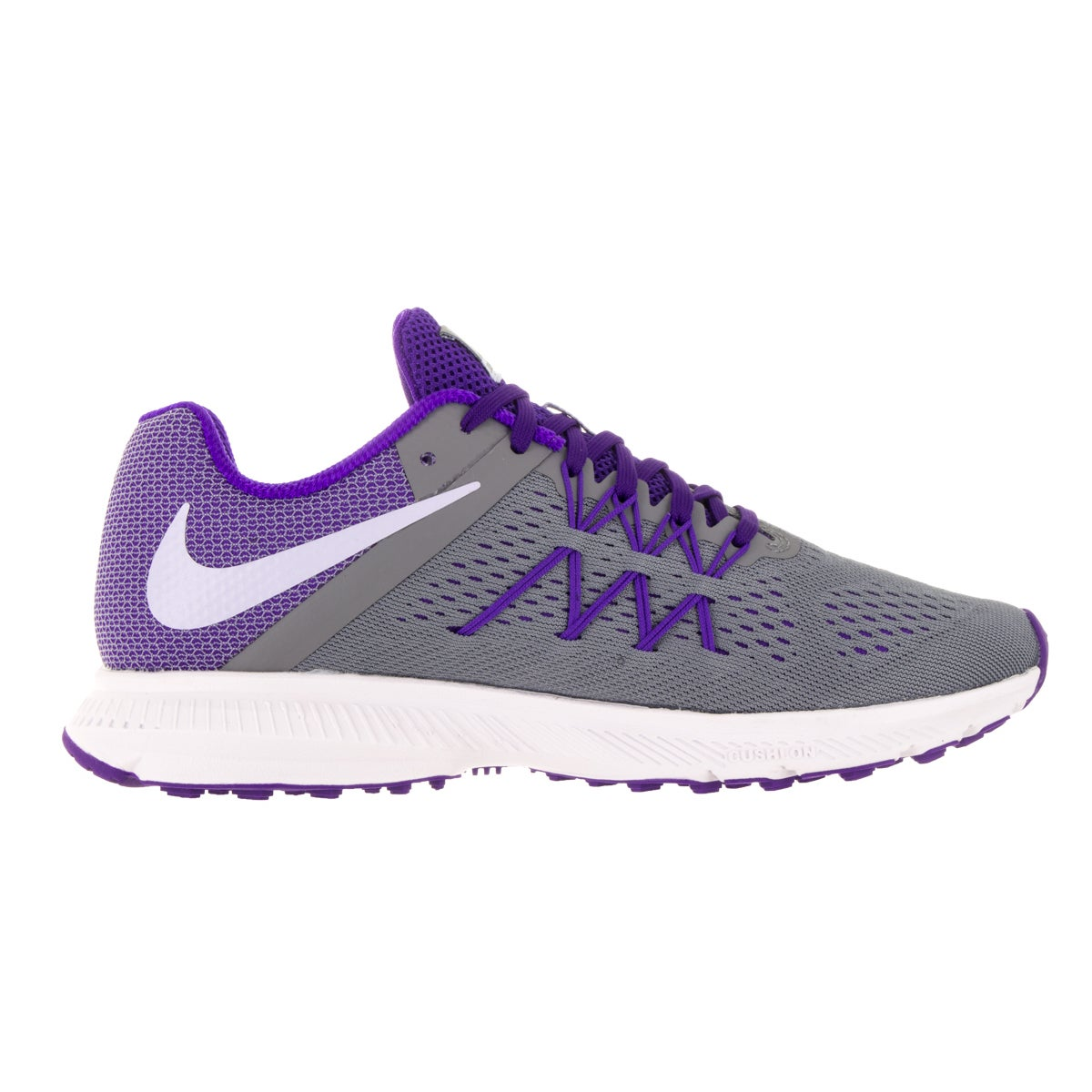 wholesale dealer e2ce0 d354d Shop Nike Women s Zoom Winflo 3 Grey, Purple, and White Plastic Running  Shoes - Free Shipping Today - Overstock - 13344105