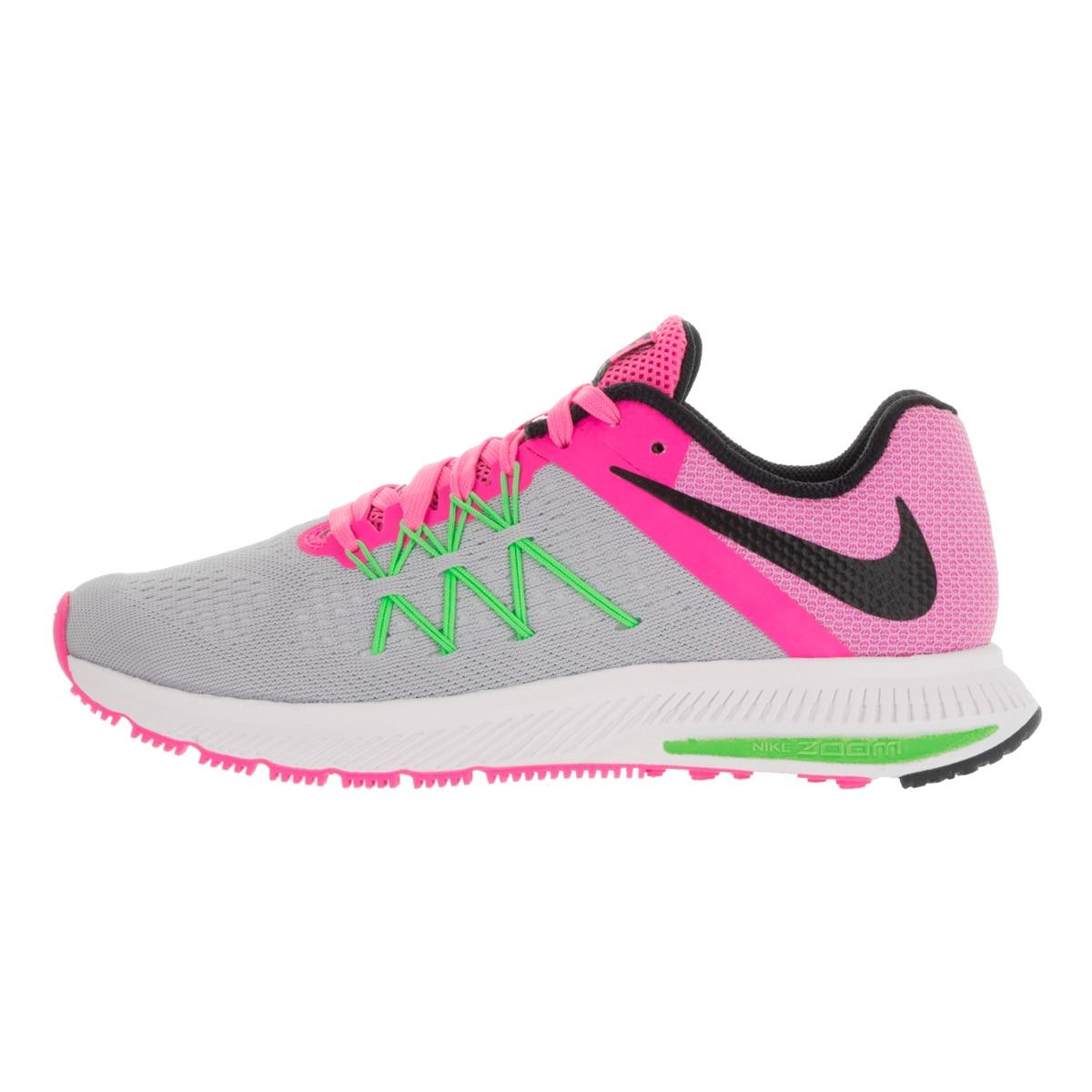 4750e93819b9 Shop Nike Women s Zoom Winflo 3 Wolf Grey Blk Pink Blast Electric Green  Running Shoe - Free Shipping Today - Overstock.com - 13344109