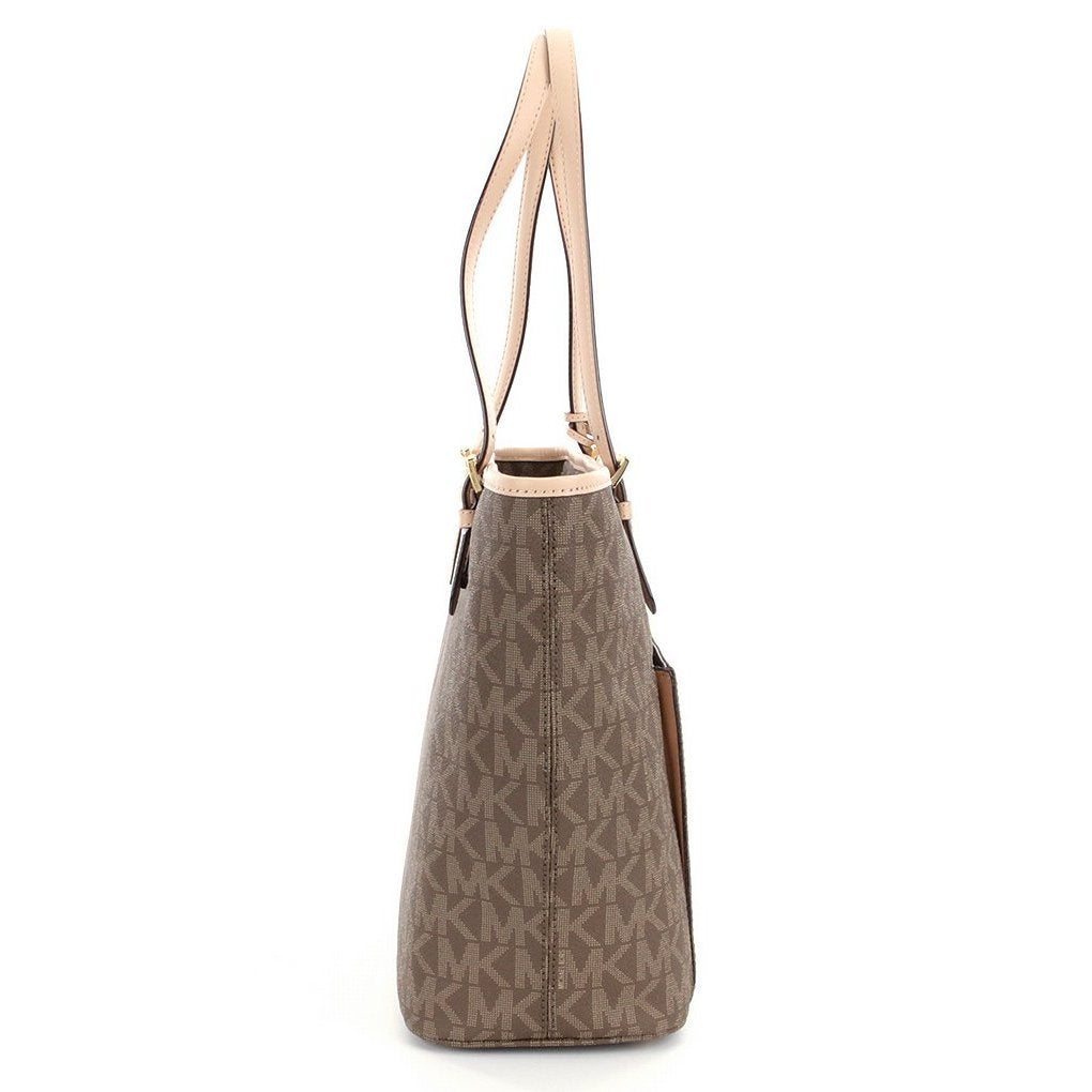9a2851a2c418 Shop Michael Kors Jet Set Mocha Leather Large Top-zip Snap-pocket Tote Bag  - Free Shipping Today - Overstock - 13344160