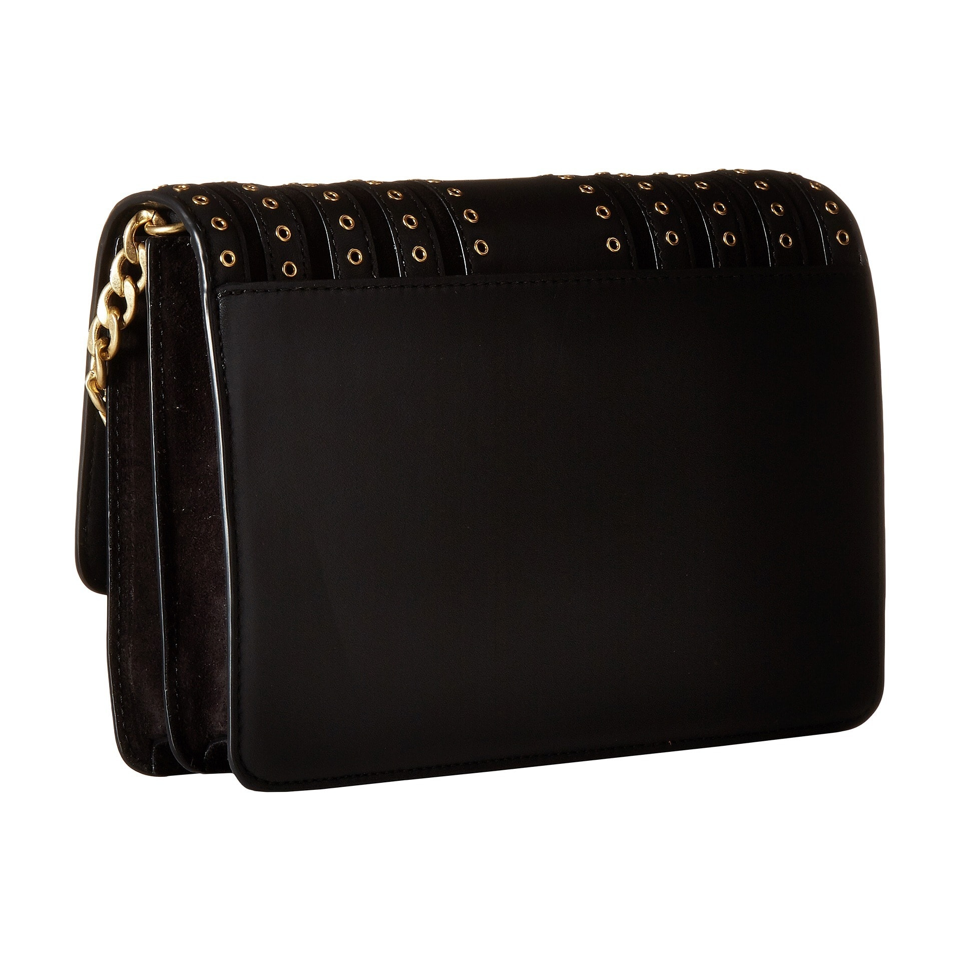 af8094cca2dc65 Shop Michael Kors Brooklyn Black Large Grommet-detailed Crossbody Clutch - Free  Shipping Today - Overstock - 13344345
