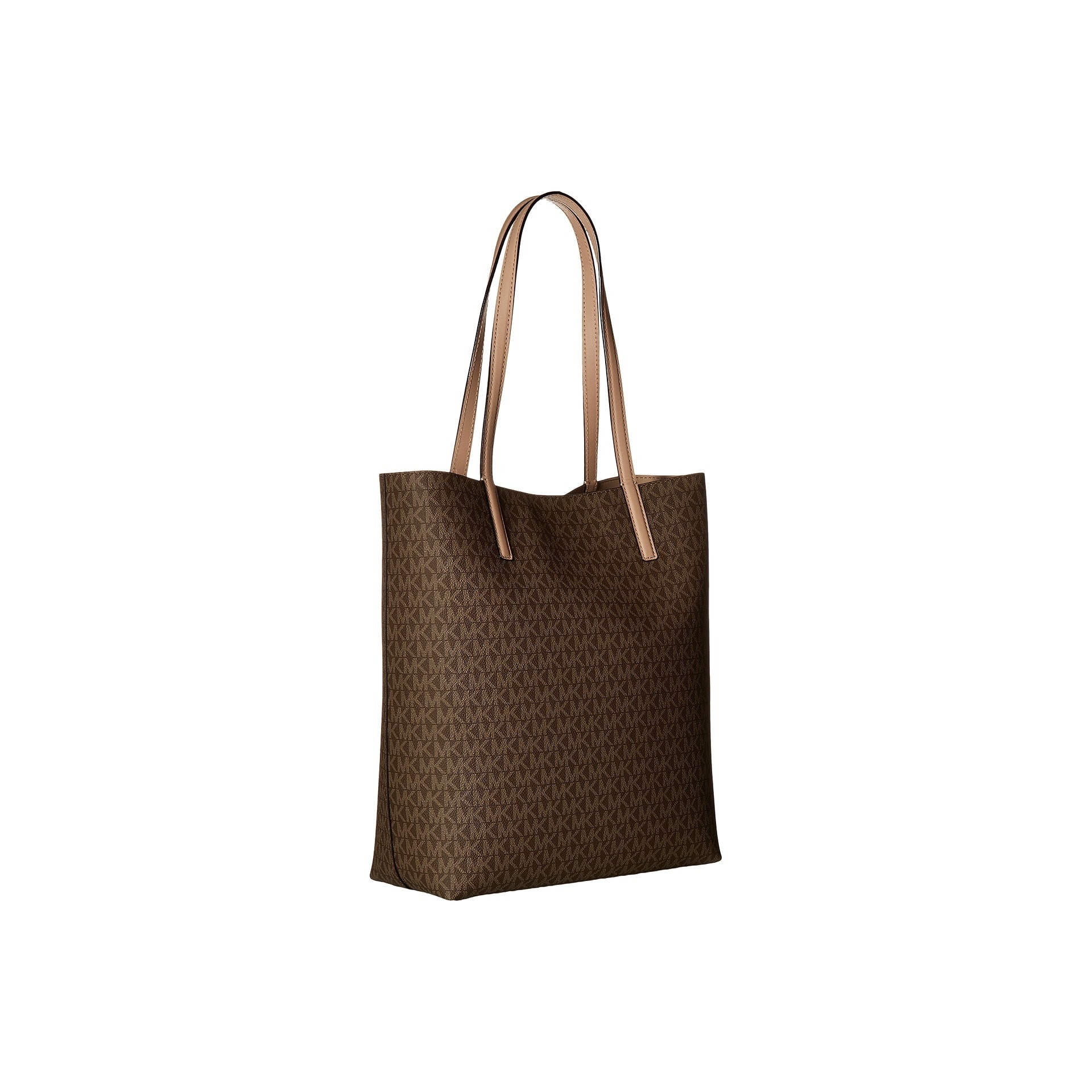 Michael Kors Hayley Large Mocha  Bisque North  South Tote Bag. by Michael  Kors 55a14f5a59d74