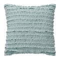 Dena Home Luna Square Ruffle Row Decorative Throw Pillow