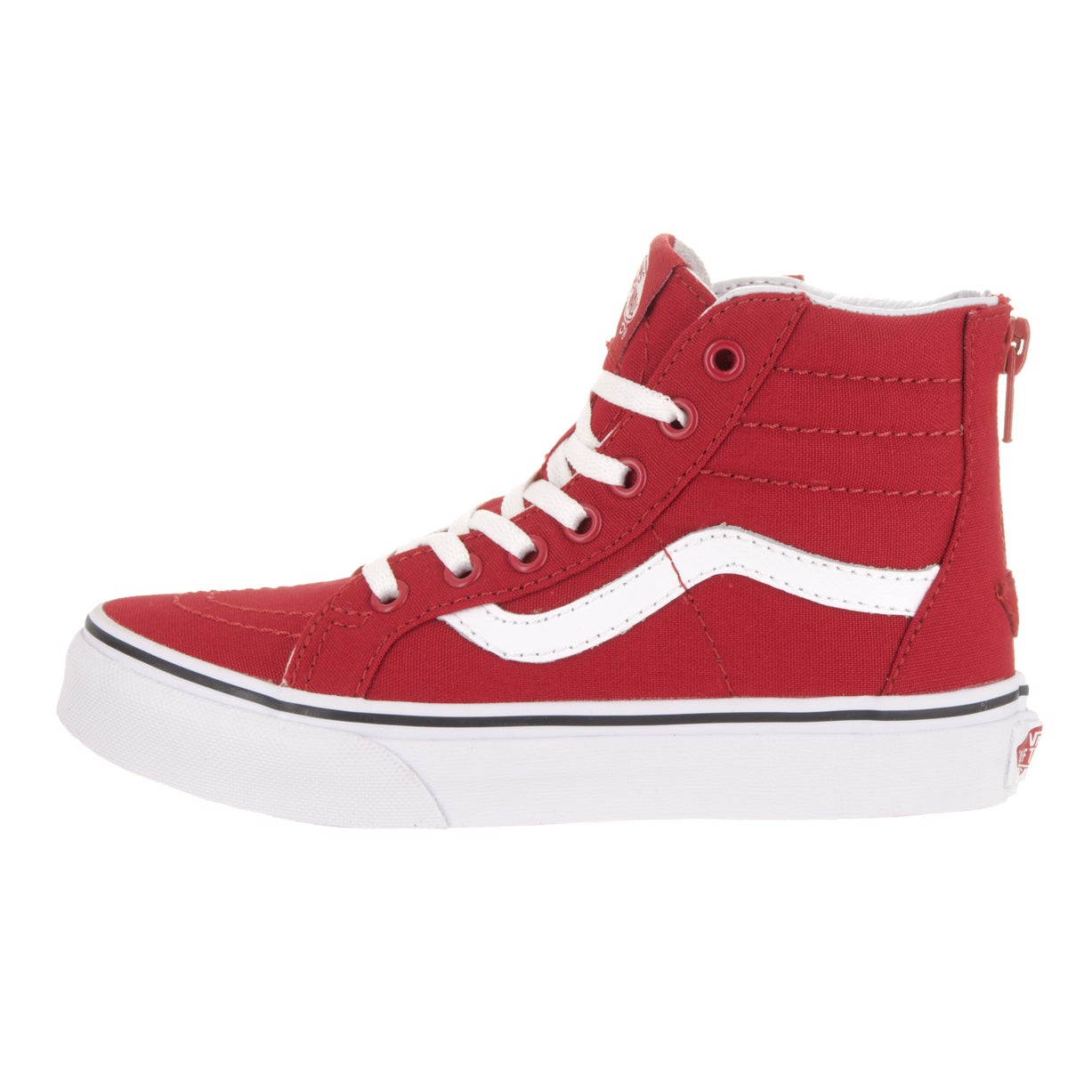 7bdaf896f24 Shop Vans Kids  Sk8-Hi Zip Varsity Racing Red True Skate Shoe - Free  Shipping Today - Overstock - 13344504