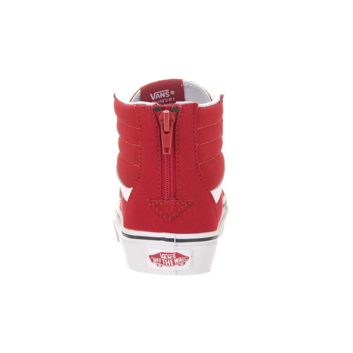 25e2831163 Shop Vans Kids  Sk8-Hi Zip Varsity Racing Red True Skate Shoe - Free  Shipping Today - Overstock - 13344504