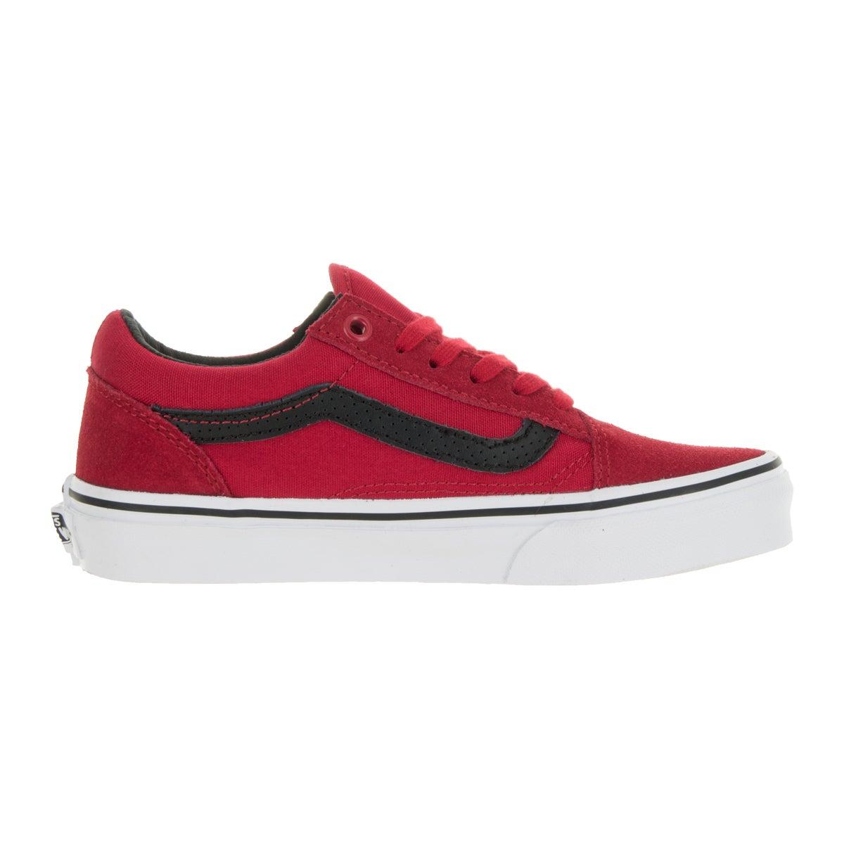 de1d8951f8 Shop Vans Kids Old Skool (C P) Racing Red Black Suede Skate Shoe - Free  Shipping Today - Overstock - 13344506