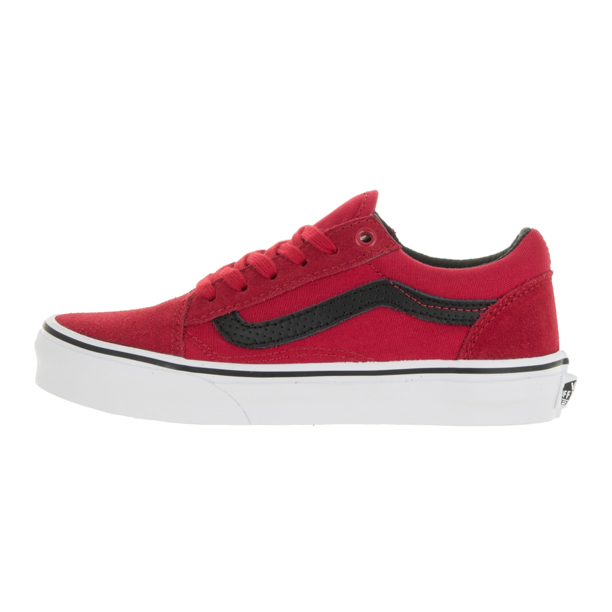 7a1dae8f6bbe Shop Vans Kids Old Skool (C P) Racing Red Black Suede Skate Shoe - Free  Shipping Today - Overstock - 13344506
